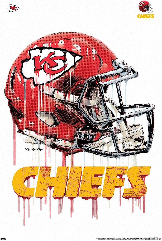 Trends International NFL Kansas City Chiefs - Drip Helmet 20 Wall Poster, 22.375
