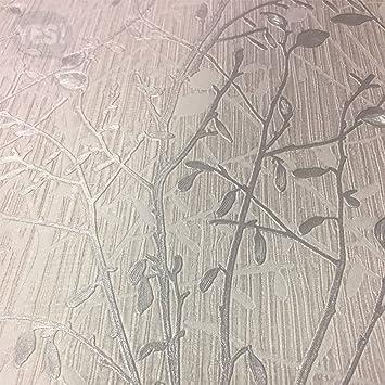 Papier Peint Arthouse Vintage Bosco Argente 291503 Arbre En Vinyle