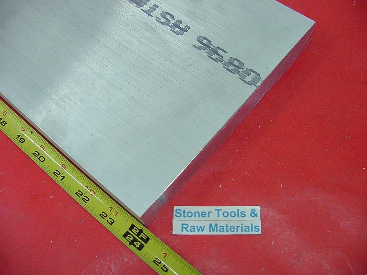 1//2 X 12 ALUMINUM 6061 EXTRUDED BAR 24 long Solid T6511 .50 Thick Mill Stock