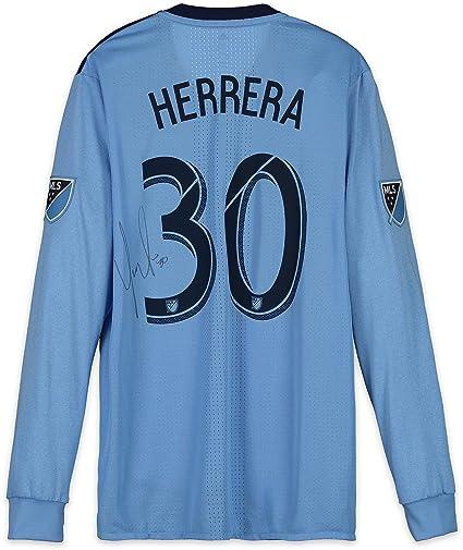 quality design cf8c5 00b18 Yangel Herrera New York City FC Autographed Match-Used Blue ...