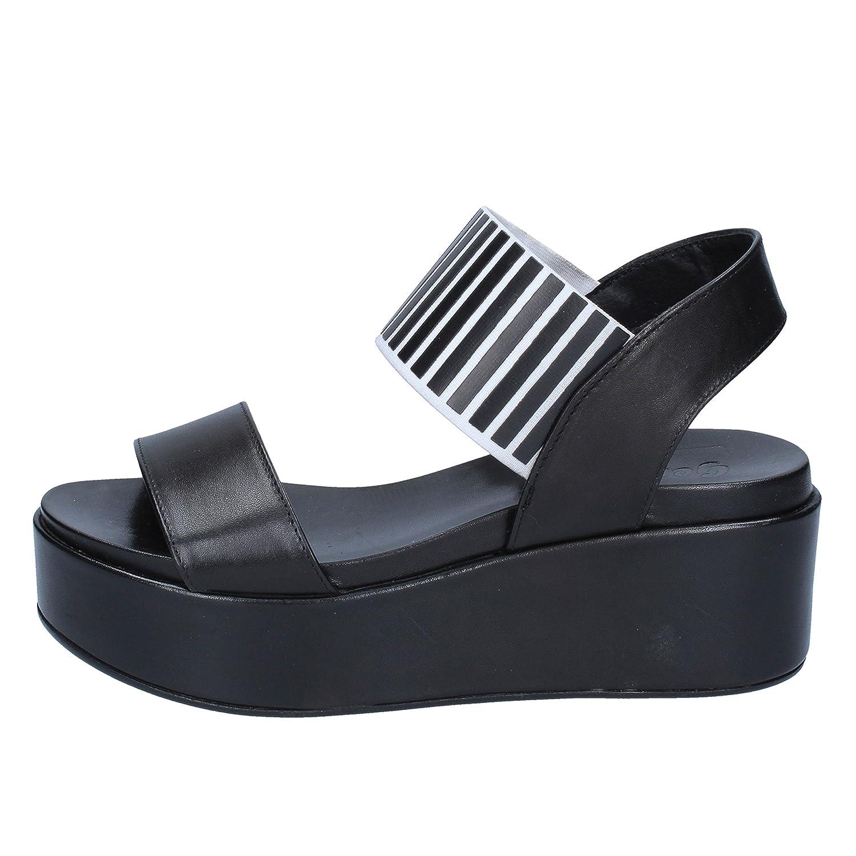 GENEVE schuhe Sandalen Damen Damen Sandalen Leder schwarz 1cd4b0