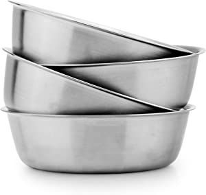 Heavy Duty Stainless Steel Bowls for Baby, Toddlers & Kids (4-Pack); Great for Cereal, Desserts, Children, Portion Control & Even Pets, 1-Cup Serving Size