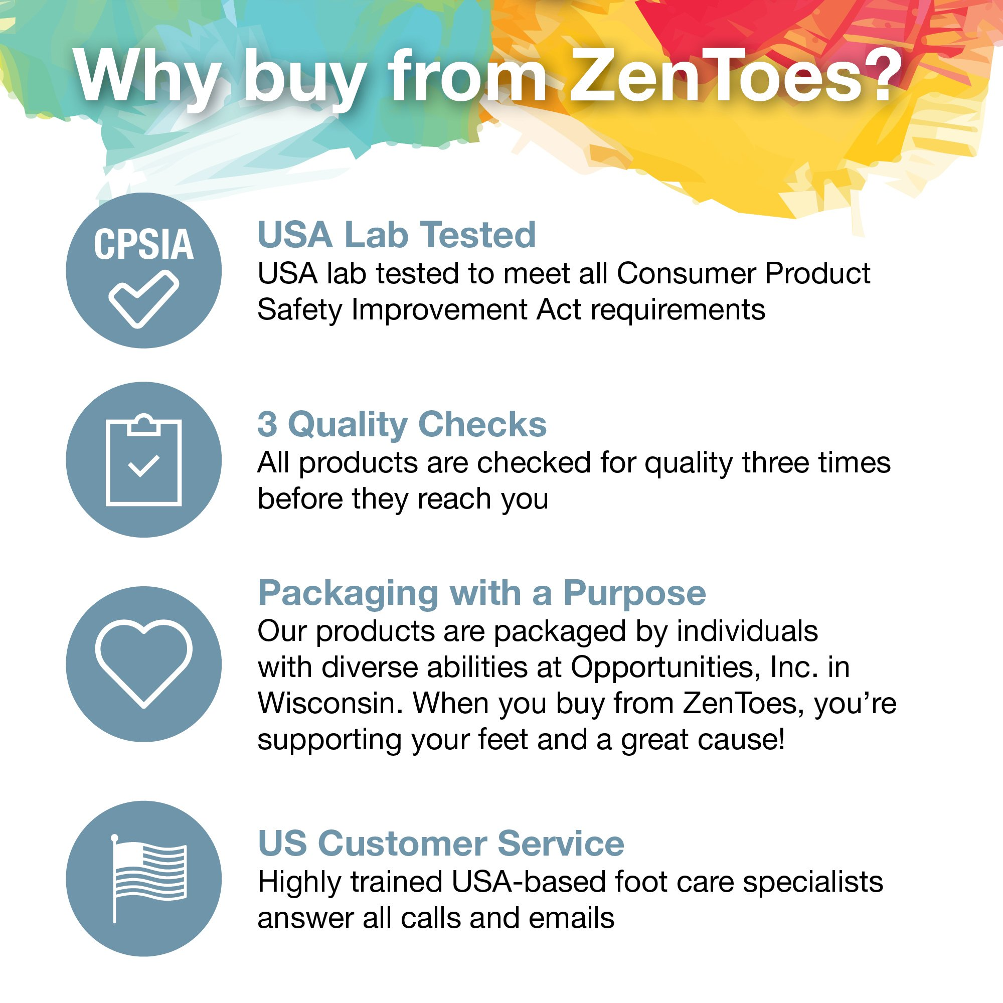 ZenToes Hammer Toe Straightener and Corrector 4 Pack Soft Gel Crests Splints | Reduce Foot Pain, Prevent Overlap | Flexible Footcare Treatment | Stain, Odor Resistant (Beige) by ZenToes (Image #6)