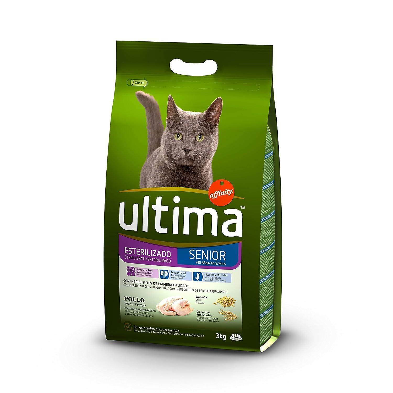 Ultima Pienso para Gatos Esterilizados Senior + de 10 Años con Pollo: Amazon.es: Productos para mascotas