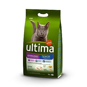 Ultima Pienso para Gatos Esterilizados Senior + de 10 Años con Pollo - 3000 gr: Amazon.es: Amazon Pantry