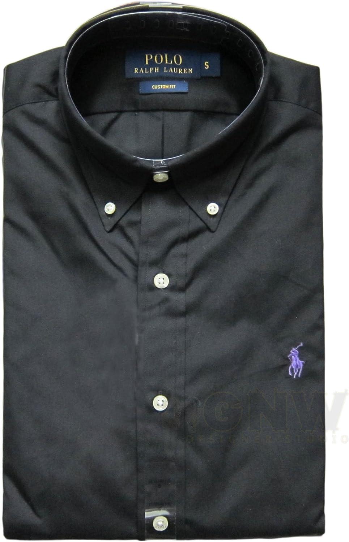 RALPH LAUREN Polo De Manga Larga Hombre A Medida Camisa Negra ...