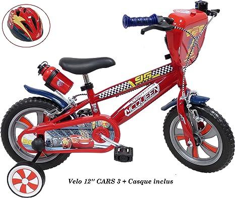 Bicicleta de 12 Pulgadas Cars de 3 Pulgadas para niños de 2 a 4 años (de tamaño < 95 cm) + Casco de Cars Incluido.: Amazon.es: Deportes y aire libre