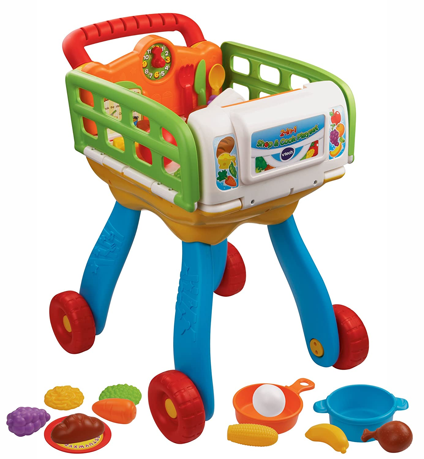 Amazon VTech 2 in 1 Shop and Cook Playset Toys & Games