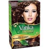 Dabur Vatika Henna Hair Color - Dark Brown, 6 x 10 gm