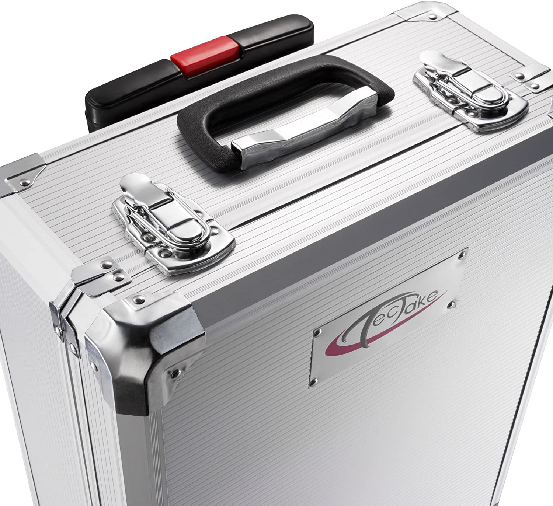 Disposici/ón clara en 4 niveles TecTake Malet/ín con herramientas 599pc piezas maleta trolley caja martillo alicates