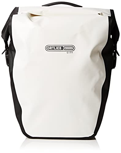 Ortlieb Back-Roller City Rear Pannier: Pair; White/Black