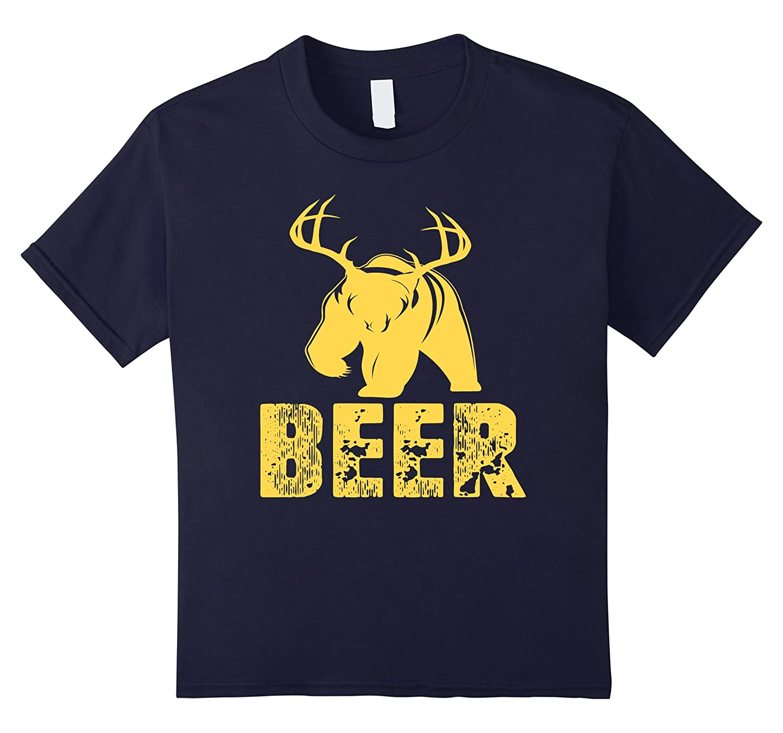 Bear Deer Beer Animal Shirt-Awarplus