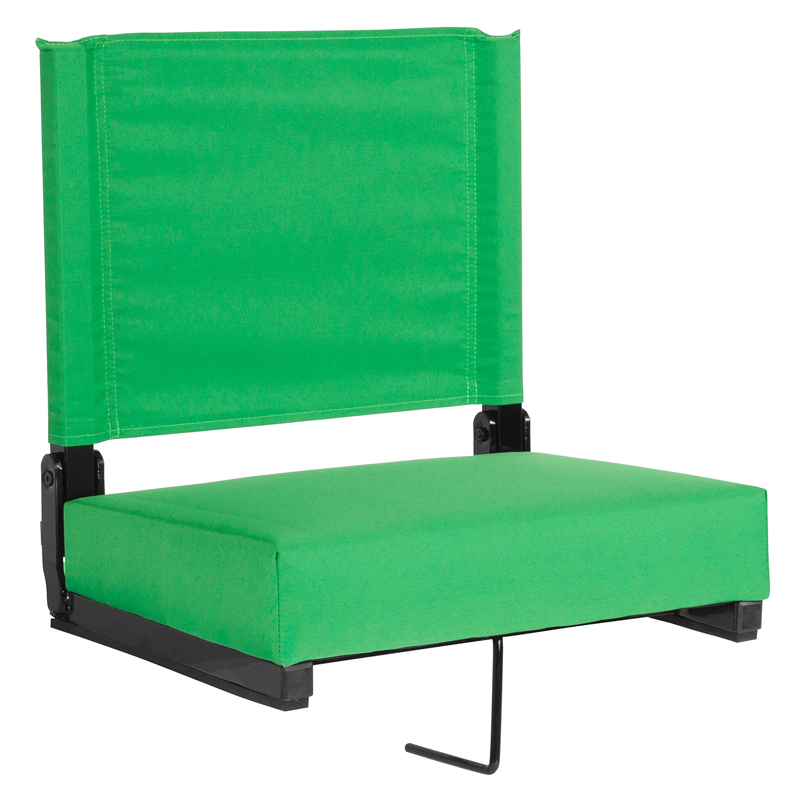 Flash Furniture Grandstand Comfort Seats by Flash with Ultra-Padded Seat in Bright Green by Flash Furniture