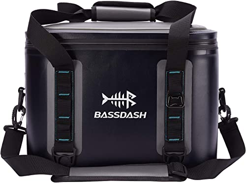 Bassdash Waterproof Insulated Soft Cooler Bag 15 24 30 Cans, Keep Drinks Cool for 3 Days, Leakproof Cooler for Fishing, Kayaking, Camping, Hiking, Picnics
