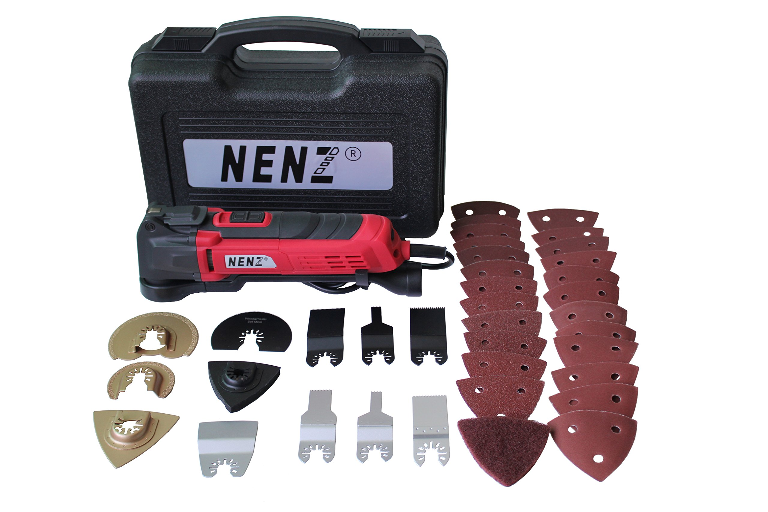 NENZ NZ10-01 AC120V Oscillating Multi-tool Kit with 11 Accessories
