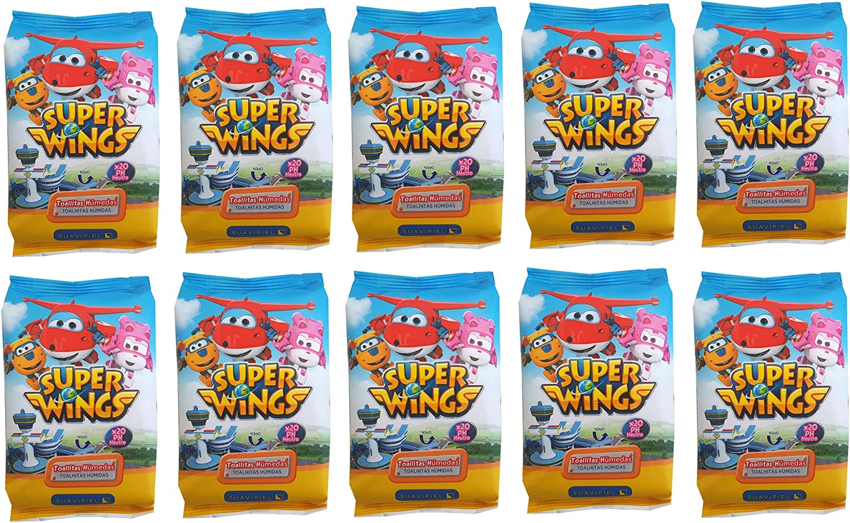 Toallitas húmedas infantiles Super Wings Caja con 10 packs de 20 ...