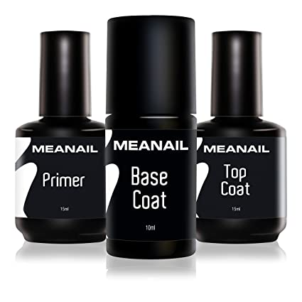 Primer Base Top Coat Permanente Uñas Gel UV LED Manicura Pedicura Ideal para Lampara Secador de