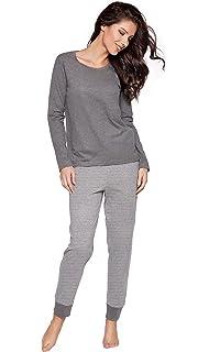88605bf5cc8de6 Moonline moderner und bequemer Damen Pyjama, mit weicher Baumwolle, in  Verschiedenen Designs