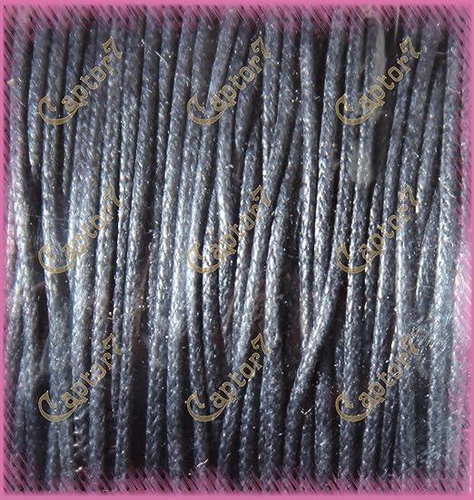 romalab. it 12 MT Hilo algodón Encerado Negro Cuerda 1 mm Cordel ...