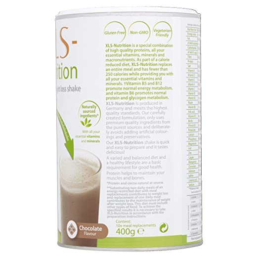 Xls Nutrition Meal Replacement Shake Chocolate 10 Portions