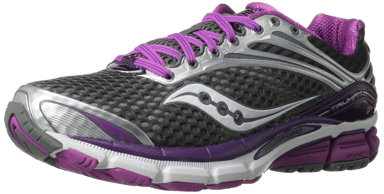 Saucony Women's Triumph 11 Running Shoe B00D45M86C 9.5 B(M) US|Grey/Purple