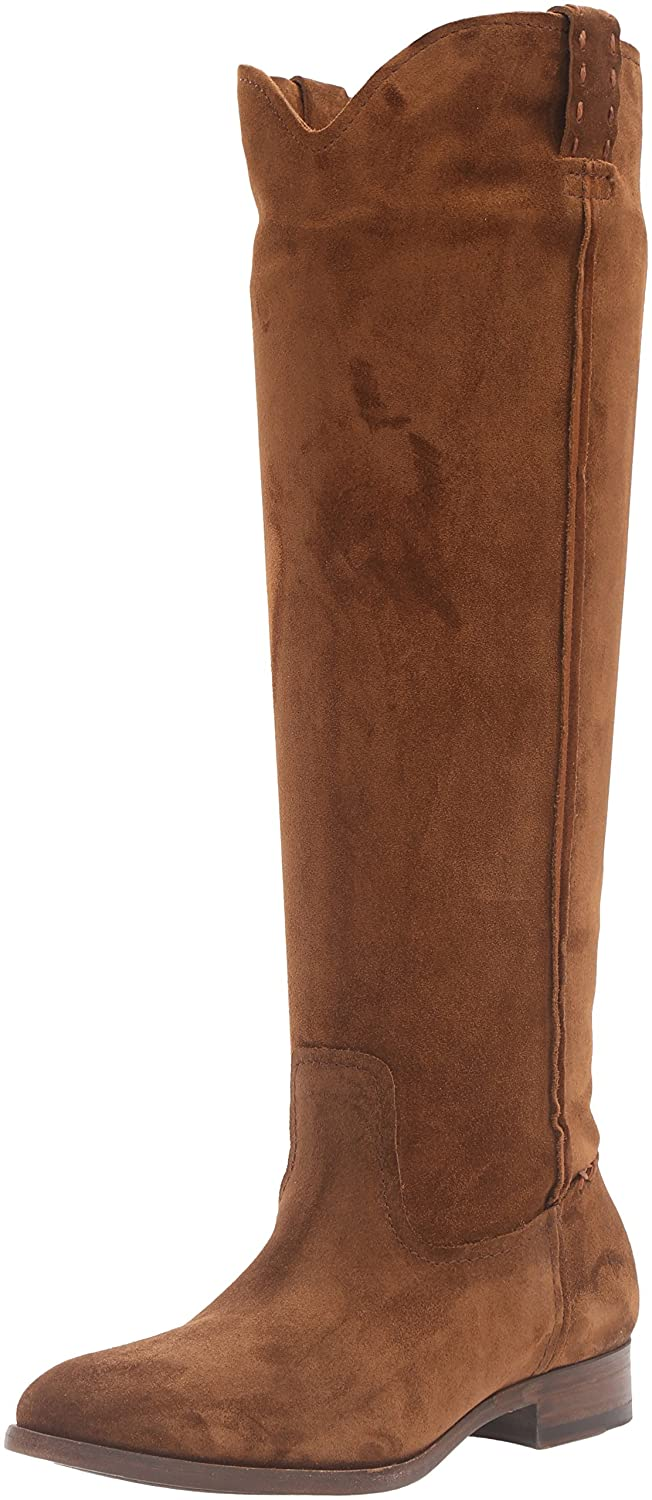 FRYE Women's Cara Tall Suede Slouch Boot B01AA8KVIC 7 B(M) US|Wood