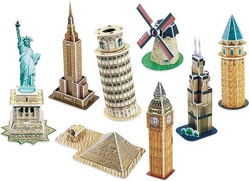 Cubicfun 3D Puzzle - C Series Mini Architecture Series 4, Multi Color