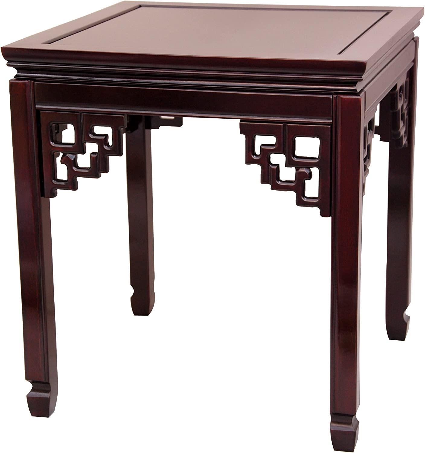 Oriental Furniture Rosewood Square Ming Table - Rosewood