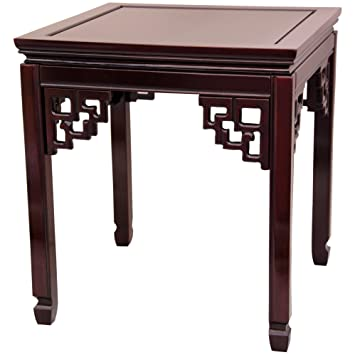oriental furniture rosewood square ming table rosewood amazoncom oriental furniture rosewood korean tea table