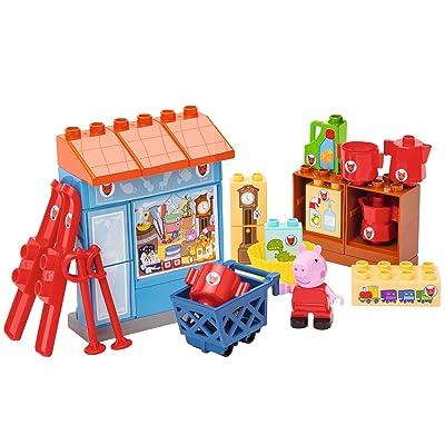 Smoby Big - 800057109 - Peppa Pig - Jeu de Construction - Bloxx Peppa Pig - Boutique de Mr Fox - 29 Pièces
