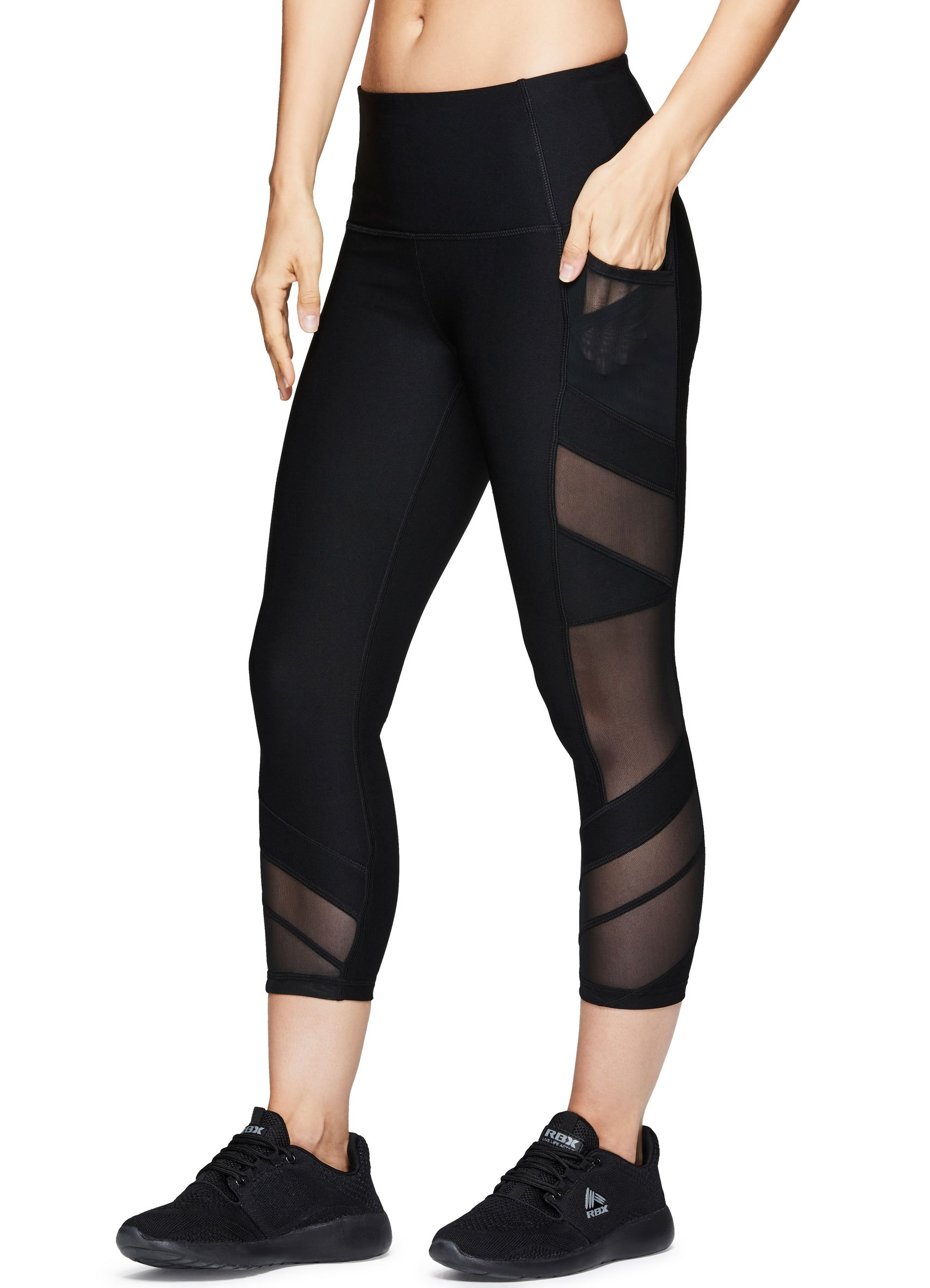 231f71ab72 Galleon - RBX Active Women's Workout Gym Yoga Athletic Leggings Black Multi  Combo S