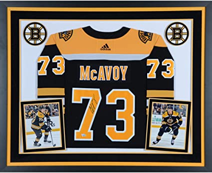 087ebebce Charlie McAvoy Boston Bruins Deluxe Framed Autographed Black Adidas  Authentic Jersey - Fanatics Authentic Certified at Amazon's Sports  Collectibles Store