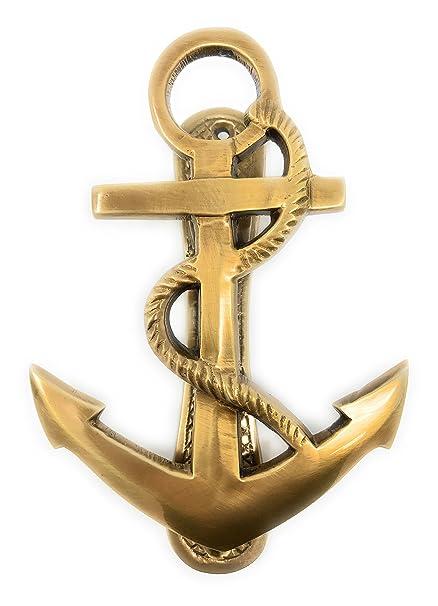 "Madison Bay Company Nautical Ships Anchor Antique Brass Door Knocker,  6.25"" ... - Madison Bay Company Nautical Ships Anchor Antique Brass Door Knocker"
