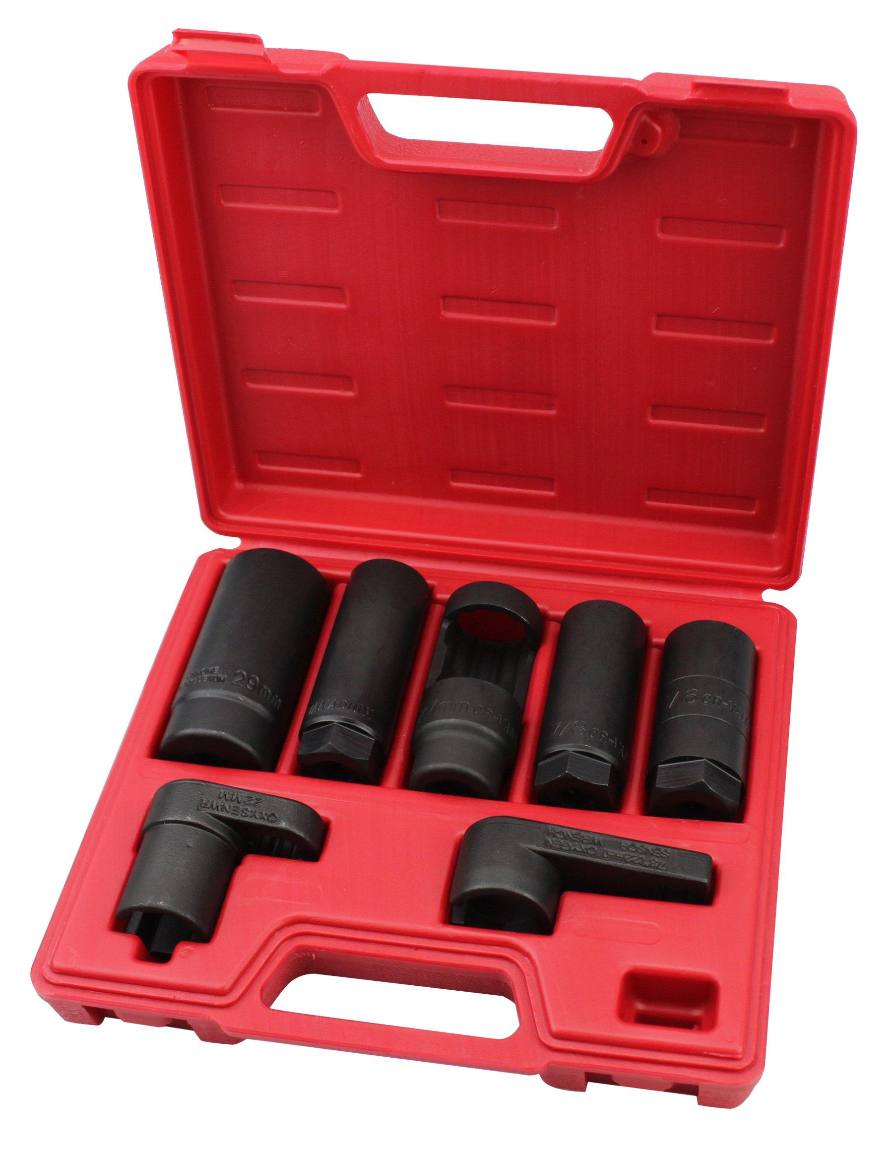 Kauplus 7PCS Master Sensor Socket Kit O2 Oxygen Sensor Wrench Socket Set by Kauplus (Image #2)