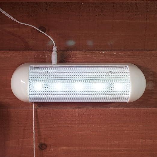 Lampe Solaire pour Abri de Jardin avec 5 LED Blanches de Lights4fun ...
