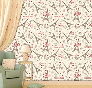 Buy Printelligent Wallpaper Paris Wallpaper Peel And Stick Wallpaper Self Adhesive Home Decor Room Kids Room Decor Wallpaper Size 45 Sqft Online At Low Prices In India Amazon In