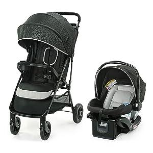 Graco NimbleLite Travel System   Includes Lightweight Stroller and SnugRide 35 Lite Infant Car Seat, Parent Storage, Compact Fold   Lightweight Stroller Under 15 Pounds, Frisco