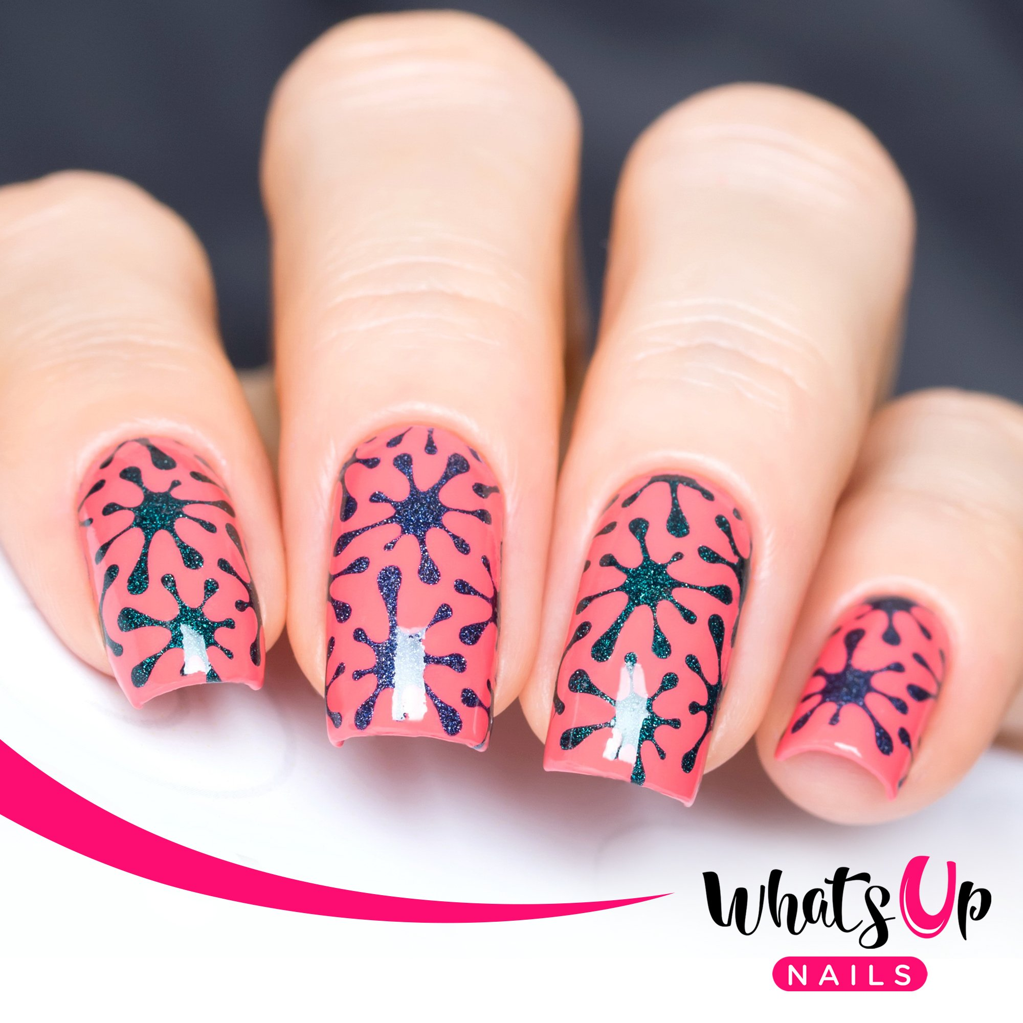 Amazon.com : Whats Up Nails - Dripping Nail Stencils Stickers Vinyls ...