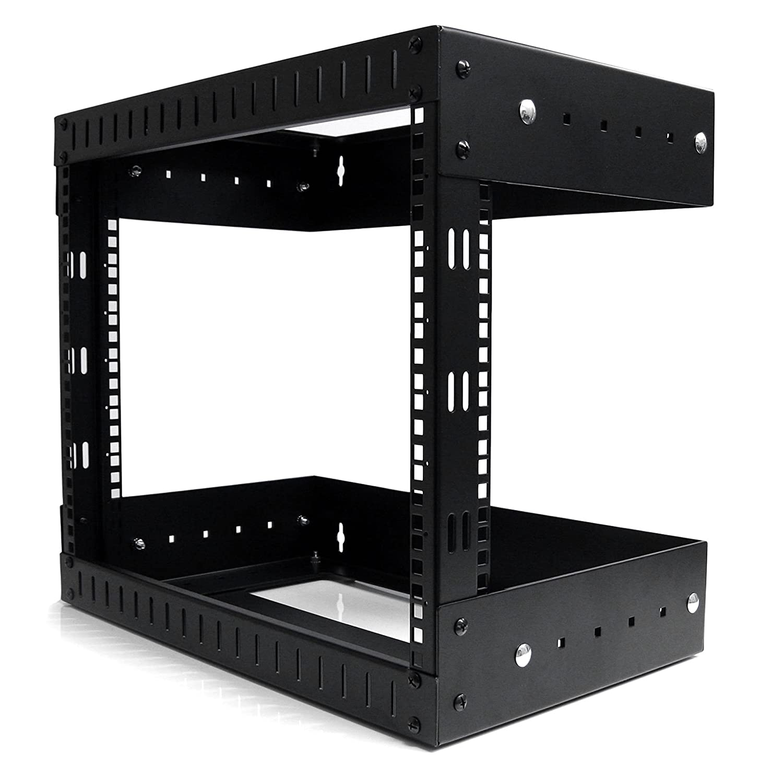 Amazon.com: StarTech.com 8U Open Frame Wall Mount Equipment Rack ...