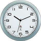 alba hortime m horloge murale radio pilotée gris métal diamètre 30