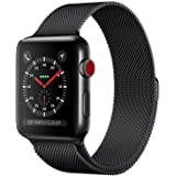 Compatible Apple Watch Band, Jxh-Life 42mm 44mm Milanese Mesh Loop Magnetic Closure Clasp Stainless Steel Replacement…