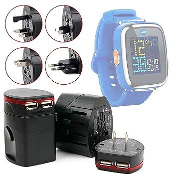 Adaptador Internacional 2 x USB para Vtech Kidizoom Smartwatch 2 ...