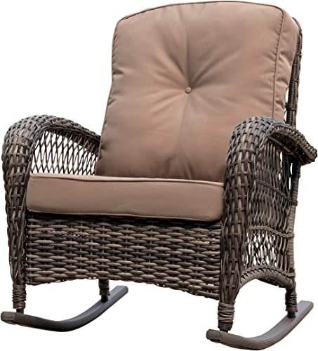 Corvus Salerno Outdoor Wicker Rocking Chair
