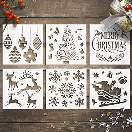 Christmas Eve Box Stencil Various Sizes Reusable 2 Designs On 1 Stencil Crafts