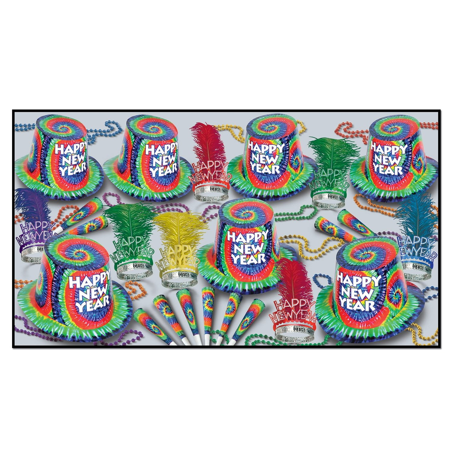 The Tie-Dyed Collection for 50 Party Accessory (1 count)