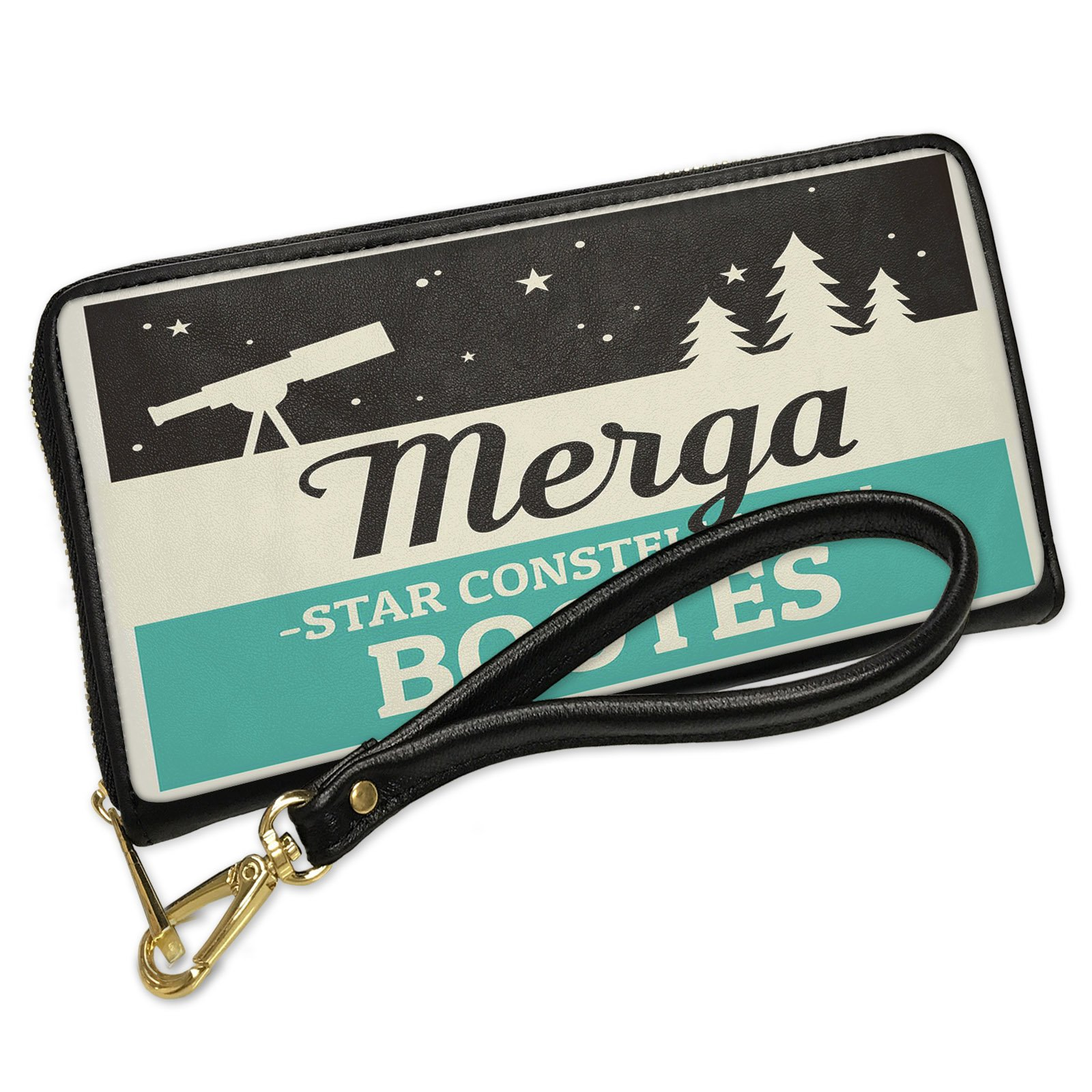 Wallet Clutch Star Constellation Name Bootes - Merga with Removable Wristlet Strap Neonblond