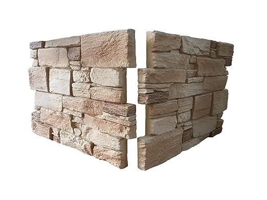 Rivestimento parete per cucina • camere da letto • balconi • salotto |  Arredamento per casa effetto pietra rustico | 53cm x 40cm x 3,5cm | Set da  2 ...