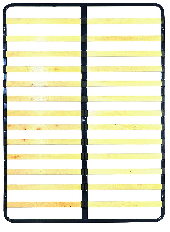 Demeyere 7860 Slatted Frame with 13 Slats, Wood, Black, 188x88x4.5 cm F00361101092_-