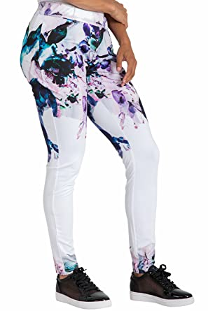 ec20c32bcc9 Poetic Justice Curvy Women s Active Floral Print Poly Tricot Legging Size S
