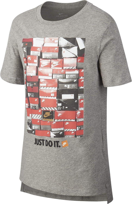 Nike Unisex Kids B NSW Tee Dptl Shoebox T-Shirt